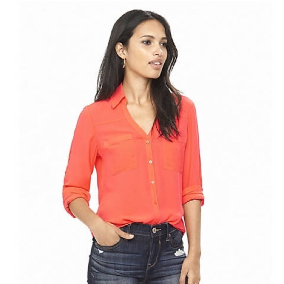 9891a96efd0d Neon Orange Express Portofino Shirt